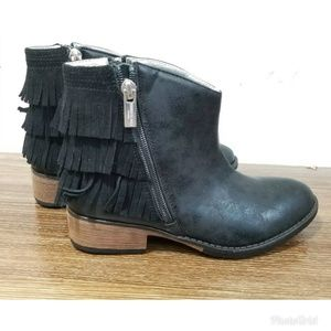 Kenneth Cole Downtown Girls Fringe Ankle Booties